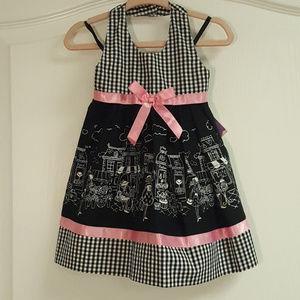 Blueberi boulevard Black Pink Halter Dress NWT